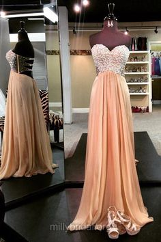 Sexy Prom Dresses, Long Prom Dresses, Sweetheart Formal Dresses, Chiffon Evening Party Dresses