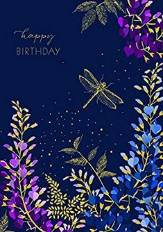 Sara Miller Dragonfly Birthday Card, Set of 3 Birthday Cake Greetings, Birthday Celebration Quotes, Happy Birthday Art, Happy Birthday Wishes Cards, Happy Birthday Photos, Birthday Blessings, Happy Wishes, Birthday Pictures, Kitchen Dining