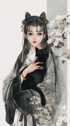 [Ancient style beauty] Yi Bing May painting collected to the ancient style illustration picture) _ petal illustration / comics Chinese Drawings, Art Drawings, Main Manga, Boca Anime, Beautiful Fantasy Art, China Art, Art And Illustration, Anime Art Girl, Aesthetic Art