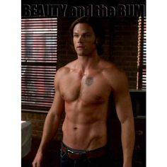 Hottest Supernatural Episode, Shirtless Jared Padalecki Beauty and the... ❤ liked on Polyvore featuring supernatural