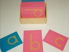 Montessori sandpaper letters - presentazione dell'alfabeto tattile (lettere smerigliate)