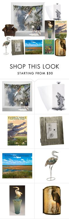 """Great Blue Heron Everglades Home Style"" by momadventurist on Polyvore featuring interior, interiors, interior design, home, home decor, interior decorating, Arthur Court Designs, Lazy Susan, Pier 1 Imports and Meyda"