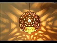 Geometric Cardboard Lamp: One of the things you may see from the majority of my activities is most likely my adoration for cardboard and lights :)My new crea. Diwali Lamps, Diwali Diy, Diy Lampe, Lampe Led, Lampshade Ideas, Cute Diy Room Decor, Craft Stick Crafts, Diy Crafts Lamp, Craft Ideas