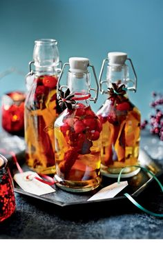 Mulled gin This makes a super-festive gift and a warming treat during winter months. It's best made at least two weeks before drinking to allow the flavours to develop fully. Makes four bottles at just under 200ml each