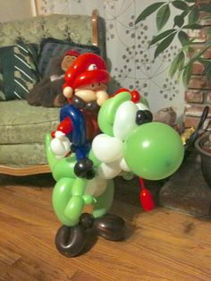 Mario and Yoshi by Mr. Boma's Balloons