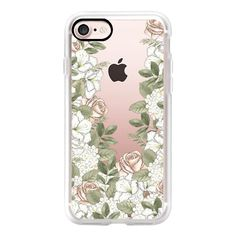 FLOWER POWER (Transparent) - iPhone 7 Case, iPhone 7 Plus Case, iPhone... ($40) ❤ liked on Polyvore featuring accessories, tech accessories, phone cases, phone, iphone case, apple iphone case, transparent iphone case, iphone cover case and iphone cases