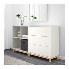 EKET Kastencombinatie met poten - wit/lichtgrijs - IKEA