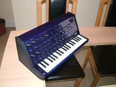 Blue Korg MS20 by Custom Synths
