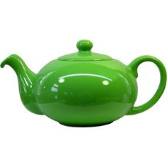 Lidded ceramic teapot in green apple.   Product: TeapotConstruction Material: CeramicColor: Green...