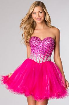 Fun and flirty homecoming dress style #3635.