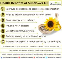 Health benefits of sunflower seed - I'm going to grow seeds for making oil.