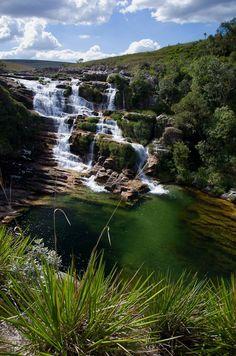Cachoeira da Cascadanta na Serra da Canastra - São Roque de Minas - Minas Gerais -Brasil
