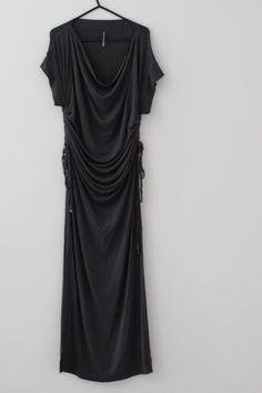 fcef6e2b33 Victoria s Secret Gray Ruched Maxi Dress Size S Excellent Condition   fashion  clothing  shoes