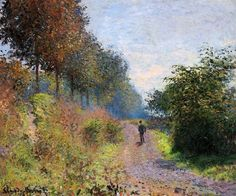 1873 The Sheltered Path - Claude Monet