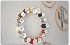thread spool organizer embroidery hoop