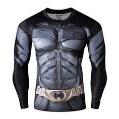 Badass Batman Long Sleeve Compression Shirt