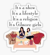 'It's Gilmore girls' Sticker by coinho Gilmore Girls Funny, Gilmore Girls Quotes, Lorelai Gilmore, Glimore Girls, Lisa, Aesthetic Stickers, Cute Stickers, Make Me Happy, Sticker Design