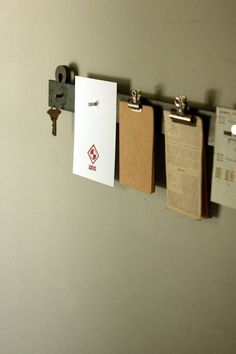 Easy Organizing: 15-Minute, $15 DIY Floating Steel Notice Bar — Apartment Therapy Reader Project Tutorials