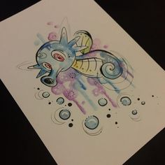 Horsea available # tattoos # tattoo # tattoo art # tattoo artist # tattoo # horsea Squirtle Pokemon, Cool Pokemon, Pokemon Tattoo, Pokemon Painting, Kawaii Tattoo, Kunst Tattoos, Anime Tattoos, Tattoo On, Desenho Tattoo