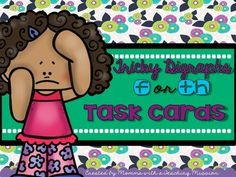 If your students are like mine, they then are struggling with hearing whether words have the 'th' or 'f' sound. So I created these task cards for them to practice! Task cards are a great tool for small group, or for independent work. This set includes:*28 task cards with pictures.