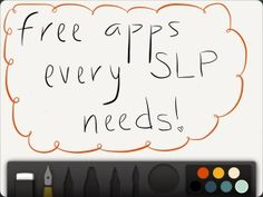 Must Have FREE Apps for Every SLP or SLP Graduate Student - - Pinned by @PediaStaff – Please Visit http://ht.ly/63sNt for all our pediatric therapy pins