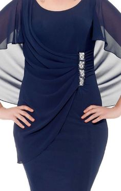 Gorgeous Navy Blue Chiffon Mother of the Bride Dresses Short mother of the bride pant suits