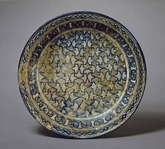 Greater Iran Bowl, 14th century Ceramic; Vessel, Fritware, underglaze-painted, 4 x 15 in. (10.16 x 38.10 cm) The Madina Collection of Islamic Art, gift of Camilla Chandler Frost (M.2002.1.17) Art of the Middle East: Islamic Department.