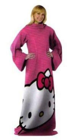 Hello Kitty Bin on Yardsellr Hello Kitty, Hello Kitty Big Face 48-Inch- by-71-Inch Adult Comfy Throw with Sleeves $32.99 http://yardsellr.com/AkO_jg