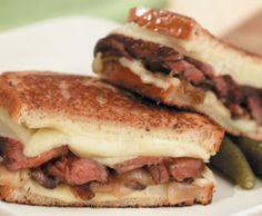 Beef Wellington with Havarti Cheese Sandwich