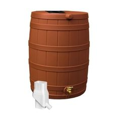 Good Ideas Rain Wizard 50 Gallon Rain Barrel & Diverter Kit - Terra Cotta