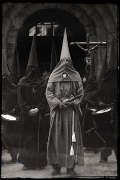Catholic Penitents - Holy Week traditions or Semana Santa, the last week of Lent, Spain. S)
