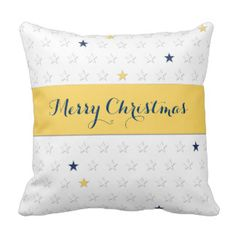 A pillow full of yellow and blue stars. This cosy cushion is the perfect decoration for the living room during the season. Bed Pillows, Cushions, Decorative Throw Pillows, Cosy, Yellow, Blue, My Design, Pillow Cases, Living Room
