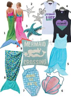 mermaid clothing accessories for girls