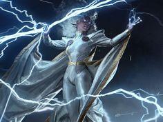 Black people in fantasy, sci-fi, and surreal art. Marvel Comic Universe, Comics Universe, Marvel Art, Marvel Dc Comics, Storm Xmen, Storm Marvel, Storm Comic, Superman, Batman