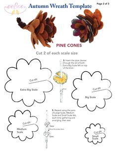 Make your own felt pine cones with eeBoo! Template included. #thanksgiving #feltcrafts #becrafty