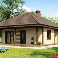 Типовой проект одноэтажного дома A007 - Строительство частных домов в Баку…