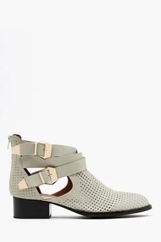 Everly Cutout Boot in Bone Perforated