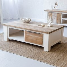 Beach House Inspired Coffee Table Manufactured From Quality Solid Acacia  Wood And Acacia Wood Veneers.