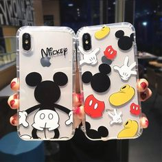 Cartoon Mickey Minnie Mouse Case For iPhone 6 8 X 7 Plus Cover For iPhone 7 Plus Pooh Bear Piglet Clear Soft TPU Fundas - Transparent Iphone 8 Plus Case - Funda Iphone 6s, Capas Iphone 6, Coque Iphone, Mickey Minnie Mouse, Classic Mickey Mouse, Diy Iphone Case, Phone Cases Samsung Galaxy, Lg Phone, S5 Samsung