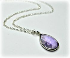 Amethyst Necklace Sterling Silver Necklace Bridesmaid