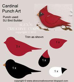 Cardinal Punch Art #Stampinup #punchart