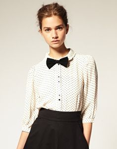 Star Print Peter Pan Collar Blouse
