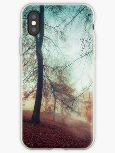 2e4ce0bb02b4 isty autumn morning with bare trees and colourful foliage • Also buy this  artwork on.
