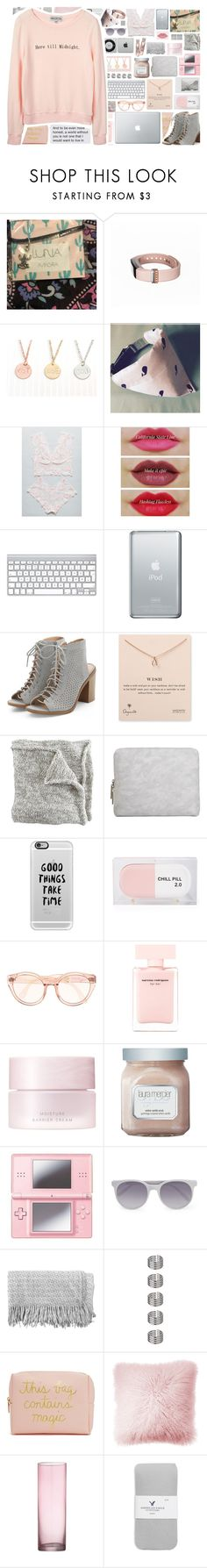 """""""Here till Midnight"""" by stelbell ❤ liked on Polyvore featuring Fitbit, Dogeared, Polaroid, 3.1 Phillip Lim, Casetify, Sarah's Bag, Narciso Rodriguez, SUQQU, Laura Mercier and Nintendo"""