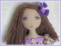 OOAK Cloth Art DOLL  Lucy  by cerchiofatato on Etsy, $110.00