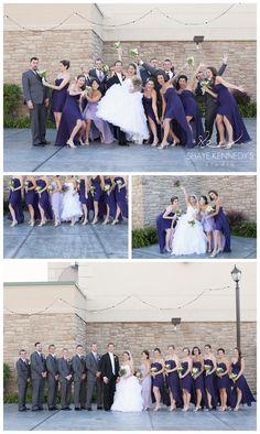 Bridal Party Photo Inspiration | Purple Wedding Details | Ambassador Erie Weddings | Shaye Kennedy's Studio #weddings #weddingphotography #weddingdetails