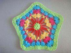 Пятиугольный мотив Pentagonal motif Crochet