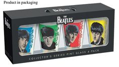THE BEATLES 1963 RETRO PINT 4-PK GLASSES [7216] - $35.00 : Beatles Gifts, The Fest for Beatles Fans