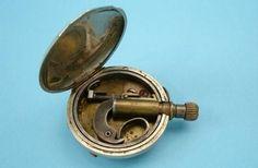 "Relojes pistola fabricados por la firma inglesa ""English Patent Railroad Pocket Watch,calibre 3 mm."