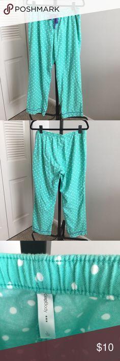 """Gap Body Pajama Pants - teal/white - Large Gap Body Pajama Pants - teal/white - Large - good used condition - 29"""" inseam GAP Intimates & Sleepwear Pajamas"""